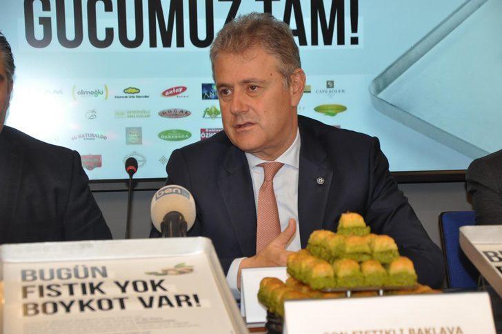 İzmirli tatlıcılardan Antepfıstığındaki fiyat artışına karşı eylem