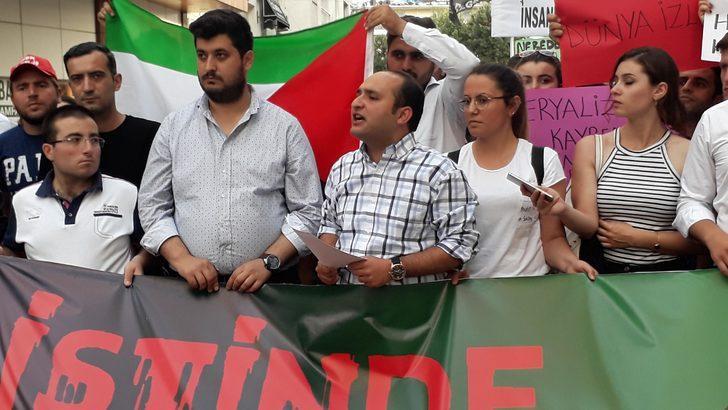 CHP'li gençlerden İsrail'e tepki