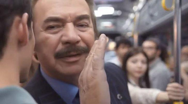Orhan Gencebay'ın otobüste deodorant reklamı olay oldu!