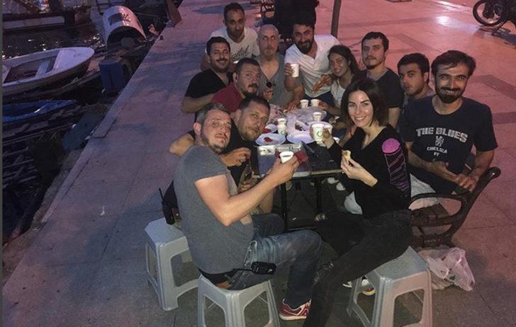 Defne Samyeli'den İstanbullu Gelin setinde iftar yemeği