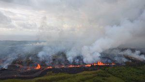 Hawaii'de Lavlar Bir Kişiyi Ağır Yaraladı