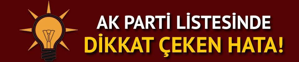 AK Parti'nin milletvekili aday listesinde dikkat çeken detay