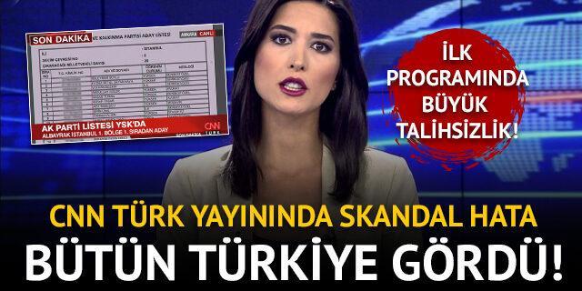 CNN Türk yayınında büyük skandal! Bütün Türkiye gördü