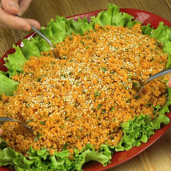 Susamlı bulgur salatası tarifi