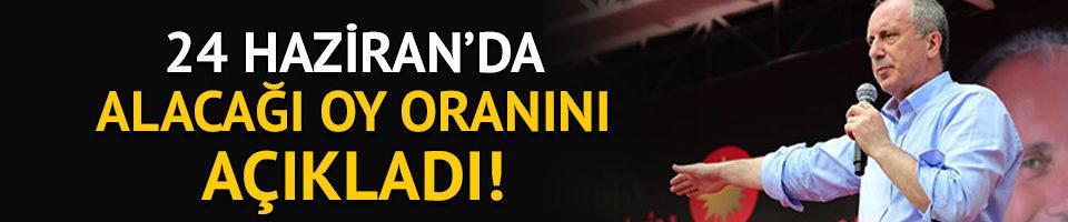Muharrem İnce 24 Haziran'daki oy oranını açıkladı!