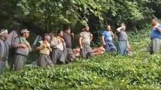 Gürcü işçiler sosyal medyayı salladı