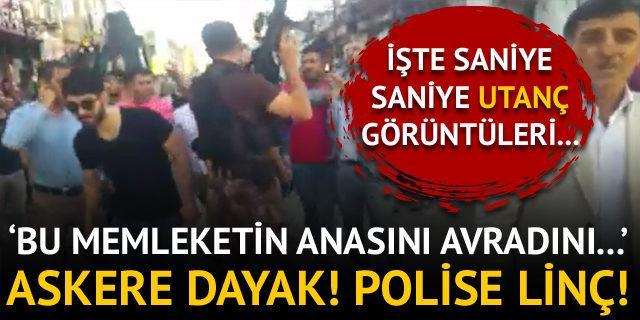 Mardin'de askere ve polise linç girişimi iddiası!