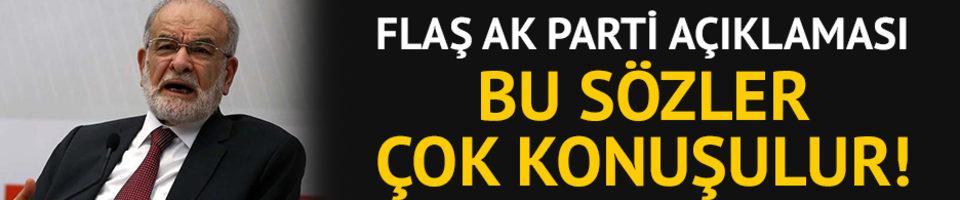 Temel Karamollaoğlu'ndan flaş AK Parti açıklamalası