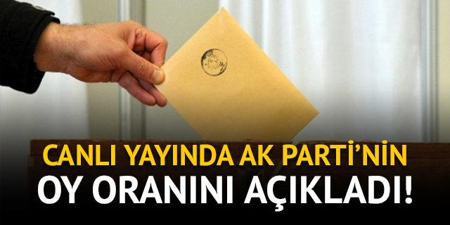 Canlı yayında AK Parti'nin oy oranını açıkladı