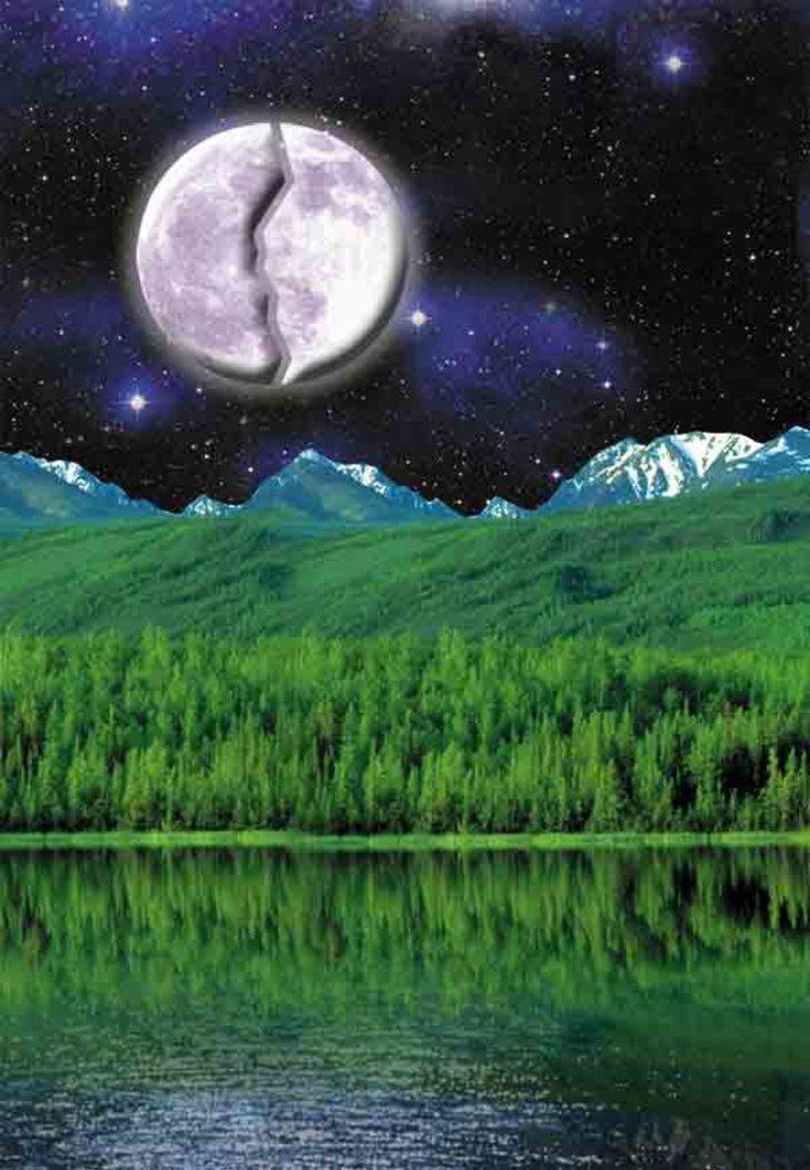 2) Ayın yarılması mucizesi (Ay'ın İkiye Bölünmesi):