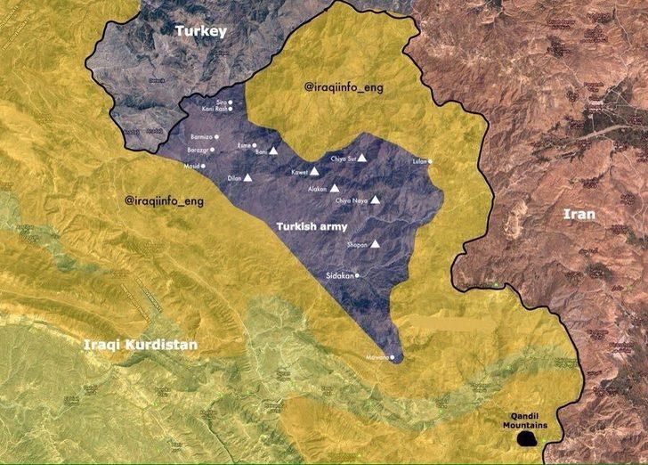 Türk askeri Kuzey Irak'a 27 kilometre girdi! Kandil operasyonu yaklaşıyor
