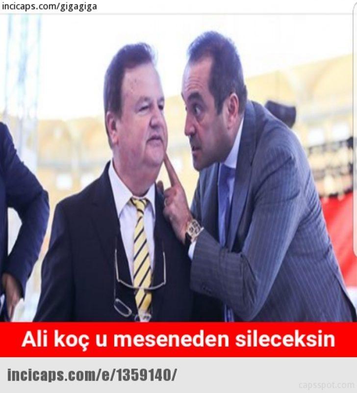 Ali Koç'un Fenerbahçe'de Aziz Yıldırım'ı geçerek başkanlık koltuğuna oturmasının ardından capsler patladı. İşte o capsler...