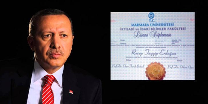 Nagehan Alçı, Cumhurbaşkanı Erdoğan'ın diplomasını köşesinden paylaştı