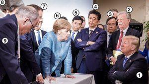 G7 zirvesindeki tarihi fotoğrafta kim kimdir?