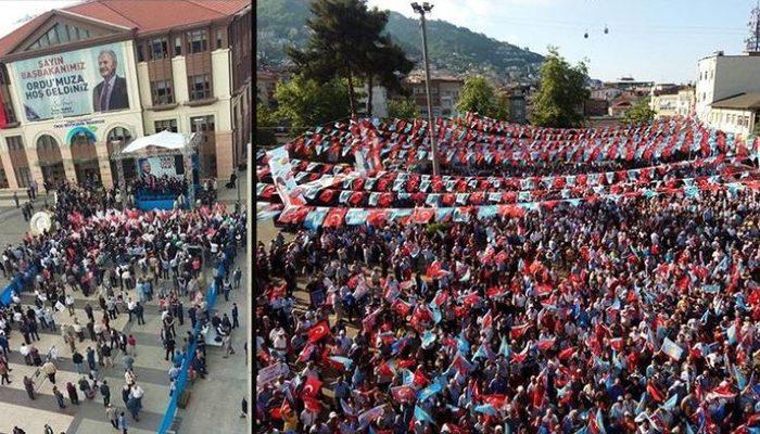 AK Parti'nin Ordu mitingi boş kalmıştı! İYİ Partililer, Yıldırım mitingi ile Akşener'in mitingini karşılaştırdı