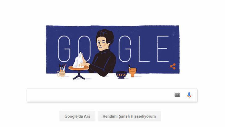 Google'dan Füreya Koral'a Doodle