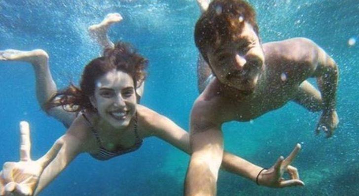 Deniz Baysal ve Barış Yurtçu su altında aşk yaşadı!