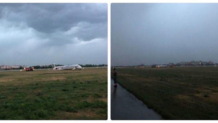Antalya-Kiev uçağı pistten çıktı