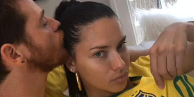Adriana Lima, Metin Hara'ya zorla Dünya Kupası maçını izletti