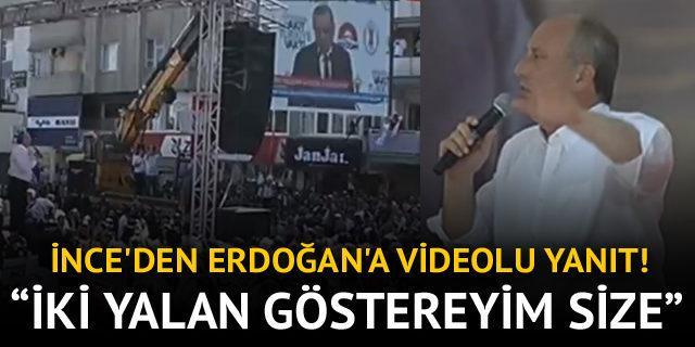 Muharrem İnce'den Cumhurbaşkanı Erdoğan'a videolu yanıt