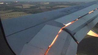 Milli takım uçağı bir anda alev aldı
