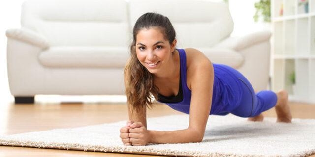 Evde Basen ve Kalça Eritmek için Egzersizler