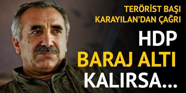 Terörist başı Murat Karayılan'dan 'HDP'ye oy verin' çağrısı