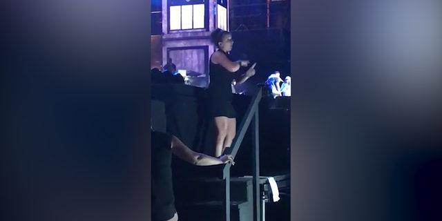 Rap konserinde tüm gözler onun üzerindeydi