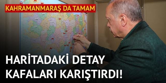 Erdoğan'ın haritasındaki işaretler kafa karıştırdı