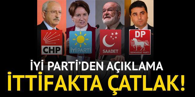 Millet İttifakı'nda 'Parlamenter sistem' çatlağı! İYİ Parti'den açıklama geldi