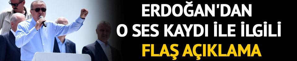 Son dakika! Erdoğan'dan İnce'ye ait olduğu öne sürülen ses kaydı ile ilgili flaş açıklama