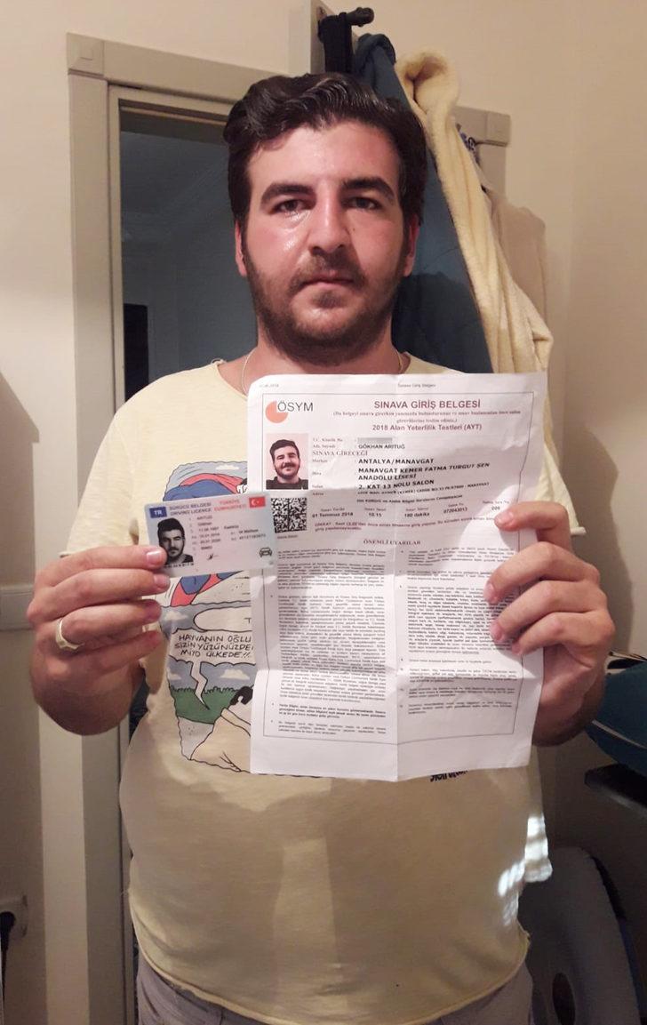 Dün sürücü belgesiyle girdiği sınava, bugün alınmadı (2)