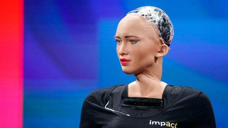 Havalimanında parçaları kaybolan robot Sophia, Başbakan ile yemeğe katılamadı