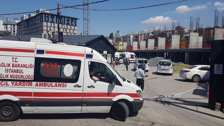 Beyoğlu'nda korku dolu anlar: eylem için vince çıktı bayıldı