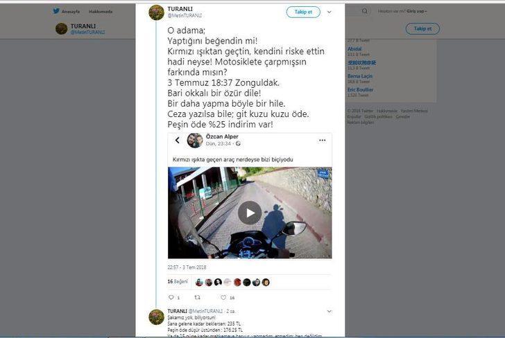 Sosyal medyadan paylaşılan 'ışık ihlali'ne para cezası