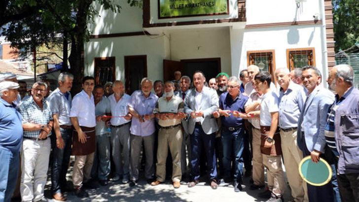 Kırıkkale'de Millet Kıraathanesi'ne 'cup cake'le açılış