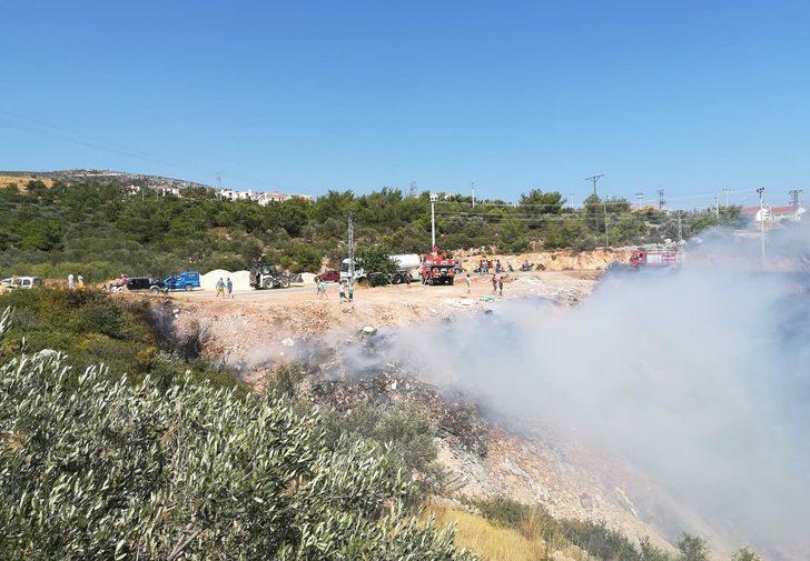 Datça'da 5 dönüm makilik alan yandı