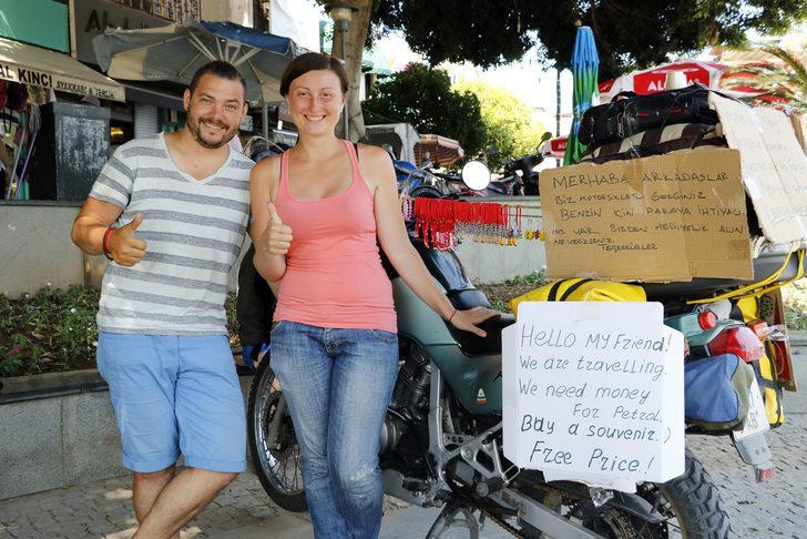 Ukraynalı gezgin çiftin 100 dolarlık zorunlu molası