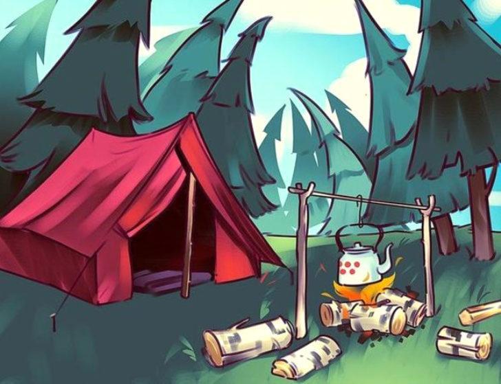 Kamp alanında yanlış bir şeyler var…