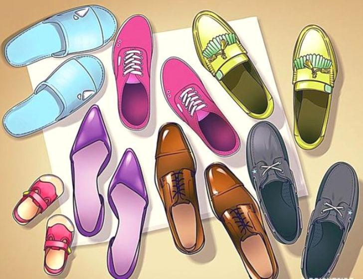 Kapıdaki ayakkabılardaki yanlışlık nerede?