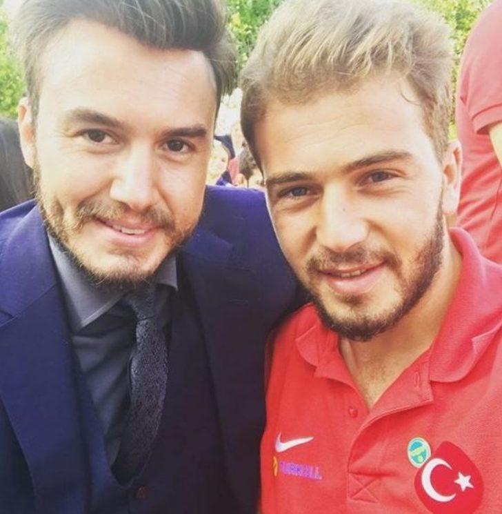 Mustafa Ceceli Ampute milli sporcu Muhammet Yeğen ile birlikte