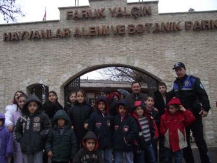 Depremzede öğrenciler, Darıca Hayvanat Bahçesi'ni gezdi
