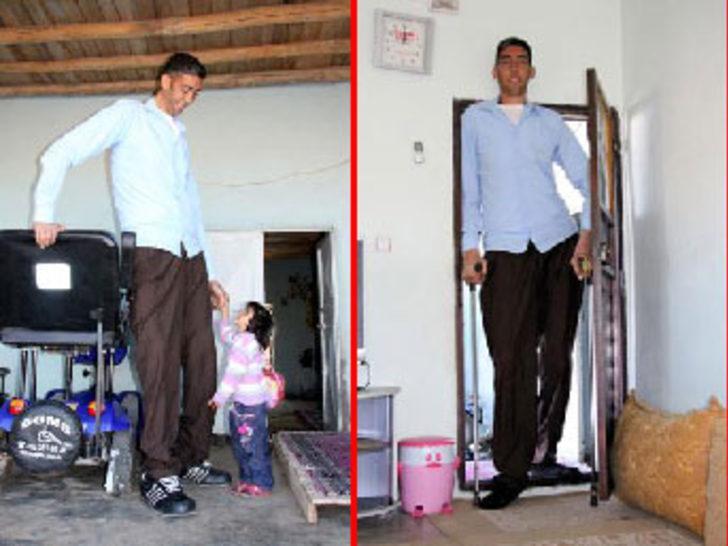 Sultan'ın boyu 2 metre 51 santim oldu