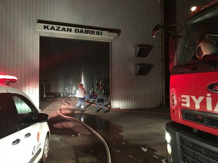 GÜNCELLEME - Burdur'da yem fabrikasında yangın