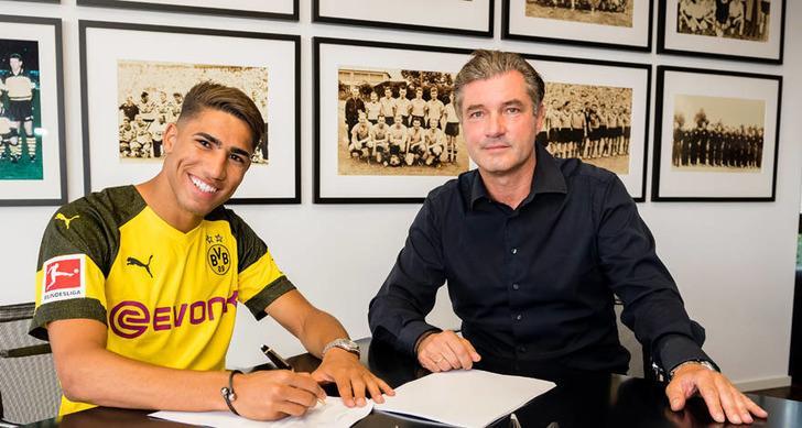 Borussia Dortmund Real Madrid'den Achraf Hakimi'yi 2 yıllığına kiraladı!