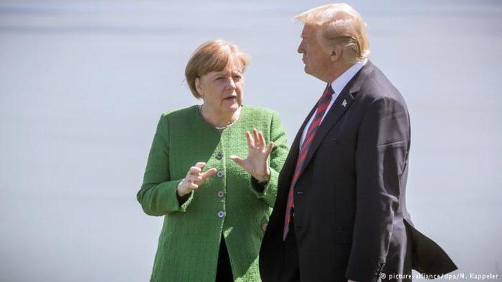 Merkel ile görüşen Trump tavır değiştirdi