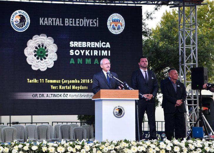 Kılıçdaroğlu Srebrenitsa katliamı anma törenine katıldı