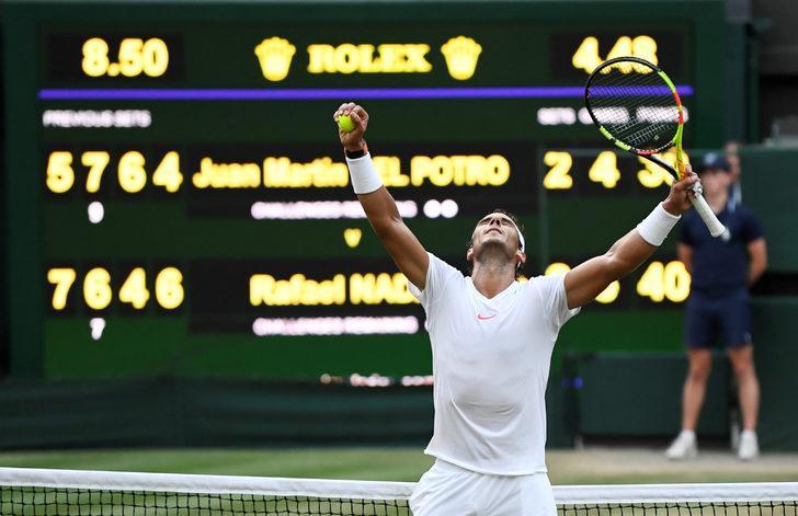 Rafael Nadal Wimbledon'da yarı finale yükseldi!
