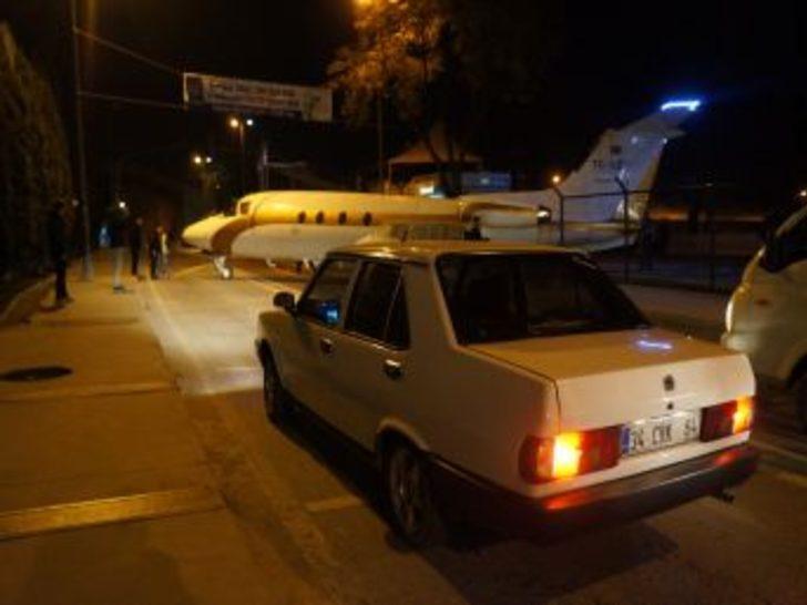Trafikte 'uçak' gören sürücüler şok yaşadı