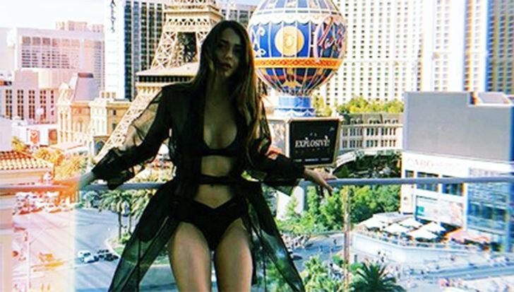 Çukur'un Sena'sı Dilan Çiçek Deniz'den Las Vegas'ta bikinili poz